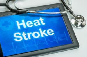 tabliet displaying the word heatstroke
